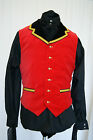 Military Velvet Braided Waistcoat Victorian Steampunk Goth Dandy OBSIDIAN NEW