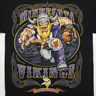 Vikings Running Back T-Shirt Black NFL Minnesota Helmet Football New BABA