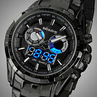 INFANTRY Digital LED Light Army Mens Quartz Sport Stainless Steel Wrist Watch