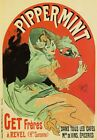 AP53 Vintage Pippermint Alcohol Beverage Drink Advertisement Poster A1/A2/A3/A4