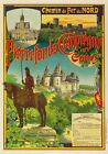 AP57 Vintage 1900 French Nothern Railway Advertisement Poster Print A1/A2/A3/A4