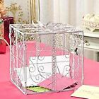 WHITE or BLACK Scroll Money CARD BOX Wedding Reception Party Wishing Well