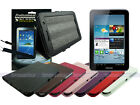 Leather Case+Screen Cleaner Pad+Stylus for Samsung Galaxy Tab 2 7.0