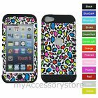 Leopard Cheetah Hybrid Rugged Impact Armor Case Cover for iPod Touch 5 5th GEN