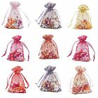 """100 Strong Organza Pouch 4""""x 6"""" 10x15cm Wedding Favor Gift Candy Bag Style Party"""