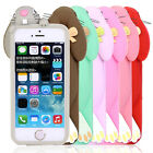 3D Cute Lovely Teeth Bunny Rabbit Silicone Case Cover Skin For Apple iPhone 5 5S