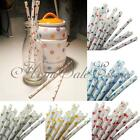 25Pcs Colorful Star Paper Drinking Straws Birthday Wedding Party Decoration