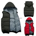 Men's Down Vests Jackets With Hood Sleeveless Hoodies Black Double Sided Wear N4