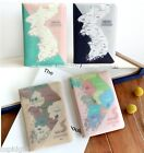 Korea Map Passport Holder Case Cover Ticket Card ID Wallet Travel Cute Kawaii