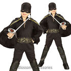 CK236 Child Licensed Zorro Boys Kids Book Week Fancy Dress Up Party Costume