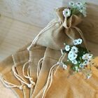 2 6 12 18 24 BURLAP Bags Brown 4X5 Baby Shower WEDDING PARTY FAVOR DRAWSTRINGS
