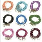 10Pcs New chain cord Leather Chains Necklace Charms Findings String Cord 2mm