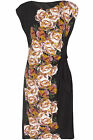 Ex Wallis Black Floral Side Bow Dress NEW Sizes 10 to 18