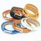 Fashion Women's Ladies PU Leather Golden U-Shape Buckle Skinny Slim Belt Strap