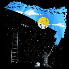 Galaxy Space Stars Full Moon night Men's T-SHIRT art novelty bansky fun tee S-XL
