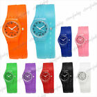 Colorful 1pc 24x24mm Silicone Unisex Wristwatch Wholesale SFWT0006