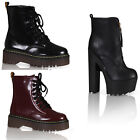 NEW WOMENS LADIES ANKLE PLATFORM HIGH BLOCK HEEL SHOES BOOTS SIZE