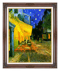 Framed Canvas Art Print Cafe Terrace at Night by Vincent van Gogh Painting Repro