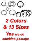 New 316L Surgical Steel Captive Bead Rings One Side Fixed Ball Cartilage Tragus