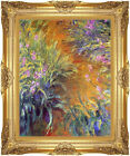 Framed Art Print Claude Monet The Path Through the Irises Painting Reproduction