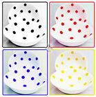 Spots Bowls Set of 6 Fine Bone China Cereal Bowls Black Blue Red Yellow Bowls