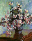 Chrysanthemums by Claude Monet Prints on Canvas Giclee Art Painting Reproduction