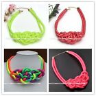 1pc Knitted Braided Traditional Knot Statement Choker Chunky Party Necklace