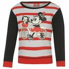 Disney Kids Crew Sweater Infant Girls Minnie Mouse Striped Jumper Pullover Top