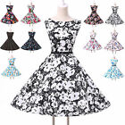 2014 Vintage 50s 60s Formal Party Polka Dot Rockabilly Evening Swing TEA Dress