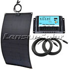 20W 30W 50W 60W 75W 100W 12V Flexible Solar Panel Kit, 10A Regulator, 10m Cable