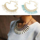 BOHO Women Fashion Crystal Pendant Chain Choker Chunky Statement Bib Necklace