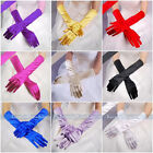 """21"""" Stretch Satin Long Gloves for Women Bride Wedding Formal Prom Evening Party"""