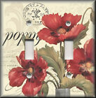 Switch Plates And Outlets - Poppy Flowers - Floral Home Decor - French Flair