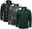 Mens Sherpa Fleece Hooded Lumberjack Work Shirt / Jacket - B34