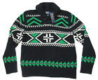 $595 Polo Ralph Lauren Mens Heavy Knit Black Wool Shawl Collar Sweater Jacket