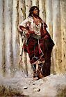 "Poster / Leinwandbild ""Indian Maid at the Stockade"" - Charles Marion Russell"