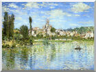 Claude Monet Vetheuil in Summer Painting Reproduction Stretched Canvas Art Print