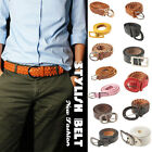 New Fashion Stylish Men/Women Belt/Thin/Woven Plaited Leather PU