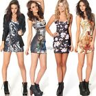 Tunic Sexy Womens Fitted Sleeveless Tops Bodycon Mini Dress Vest Skirt New 35DI