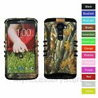 For Verizon LG G2 VS980 Camo Camouflage Hybrid Rugged Impact Armor Case Cover