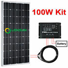 12V 100W Mono Solar panel kit,regulator,cable,bracket,perfect for boat,motorhome