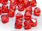6mm 200/400/600/800/1000pcs DARK RED FACETED ACRYLIC LUCITE BICONE BEADS TY2990