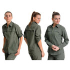 Brand New Women Fast Dry Hiking Fishing Outdoor Shirt Anti UV Long Sleeve TBUS