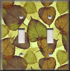 Switch Plates And Outlet Covers - Leaves - Green Brown - Rustic Home Decor