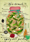 Poster / Leinwandbild how to make spicy pickles - Elisandra