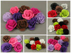 Felt Fabric Flowers Embellishments Card Making Toppers Assorted Colours