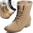 Cords Boots Boots Mesh Pattern Lace Up Boots Ankle Boots Women's Shoes