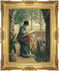 Framed Art Madame Camille Embroidering Claude Monet Painting Repro Giclee Print