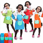 Kids Children Cute Cartoon Frog Waterproof Apron Overclothes For Painting Eating
