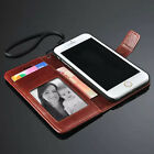 """Flip Leather Wallet Card Holder Case Cover for Apple iPhone 6 Air 4.7"""" Wristlet"""
